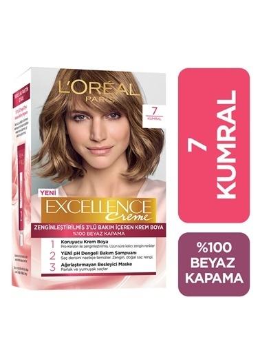 L'Oréal Paris Excellence Creme Saç Boyası 7 Kumral 3'lü Set Renksiz